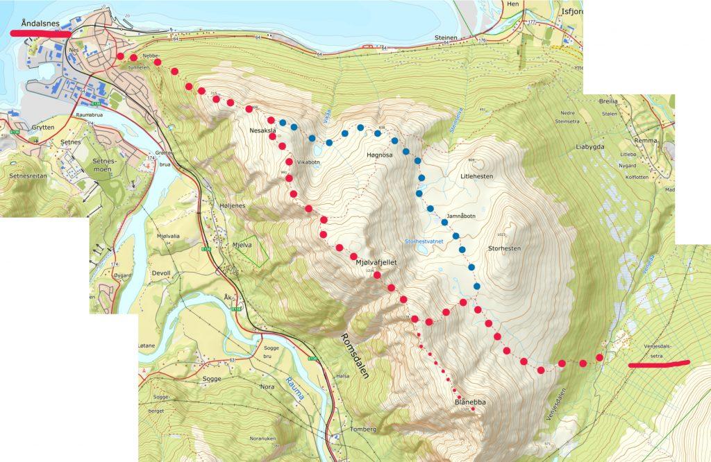 romsdalsegen map